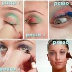 Maquiagem colorida para o carnaval passo a passo