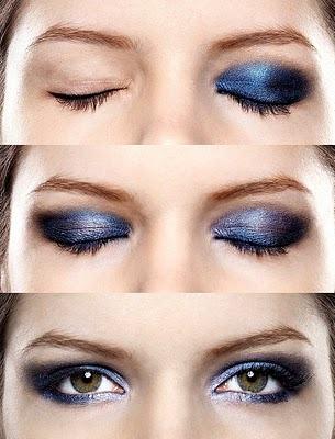 maquiagem azul preta Maquiagem azul e preta passo a passo