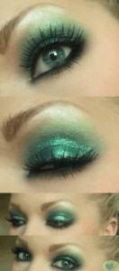 maquiagem verde glitter 132x300 Maquiagem verde com glitter   Dicas, Passo a Passo